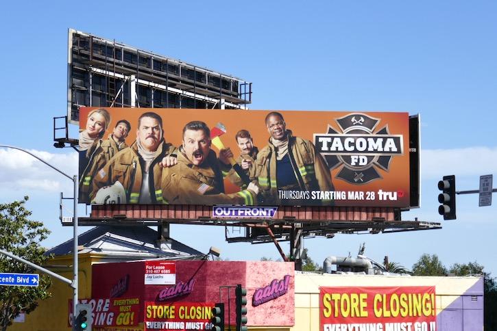 Tacoma FD series premiere billboard