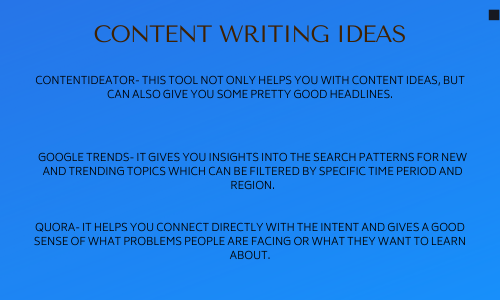 content writing ideas