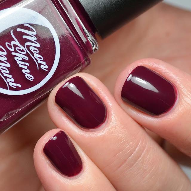 oxblood nail polish swatch