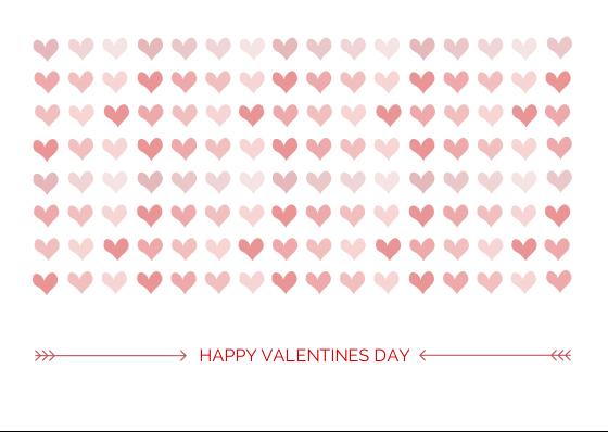 Hearts:  Happy Valentine's day