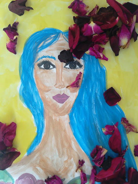 #bluehair #fwatercolour #art #originalart
