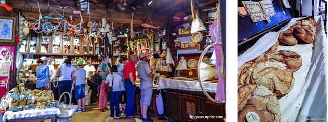 Loja do Museu do Pão em Seia, Serra da Estrela, Portugal