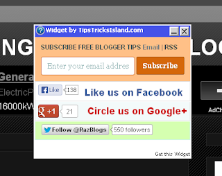 Popup Email Subscription Widget