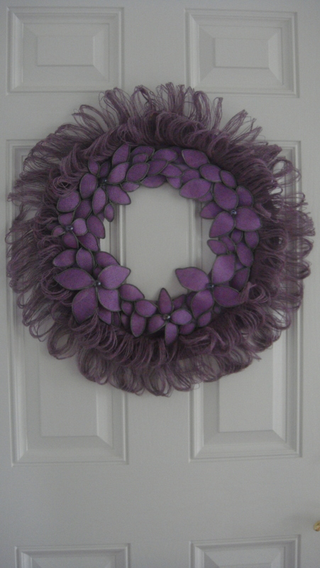 Burlap Fringed Wreath