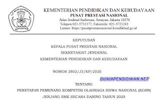 DAFTAR PEMENANG KOSN JENJANG SMK 2020. pdf