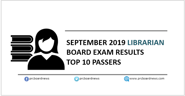 RESULT: September 2019 Librarian board exam top 10 passers