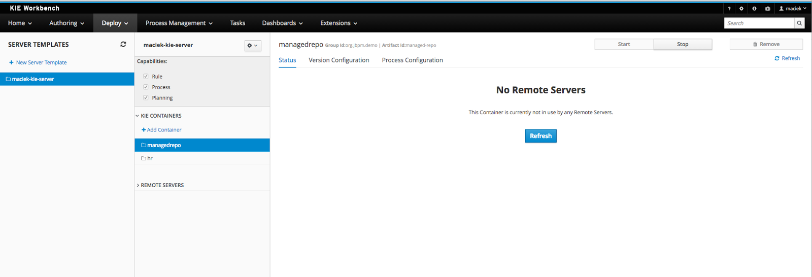 jBPM v7 - workbench and kie server integration | Planet JBoss Developer
