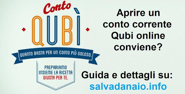Conto corrente Qubi online: cosa offre, conviene?