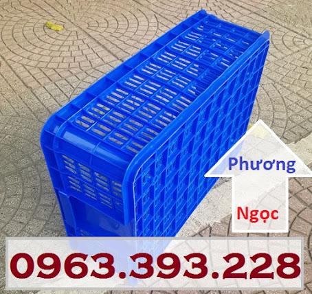 Sóng nhựa hở HS009, sọt nhựa rỗng HS009 cao 19, sóng nhựa công nghiệp SR195