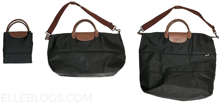 Review Longchamp Weekender Le Pliage Expandable Travel Duffel Bag Elle Blogs