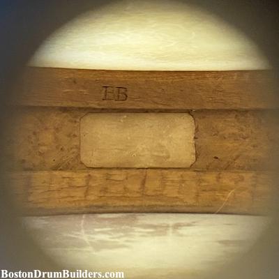 antique blair & baldwin drum shell