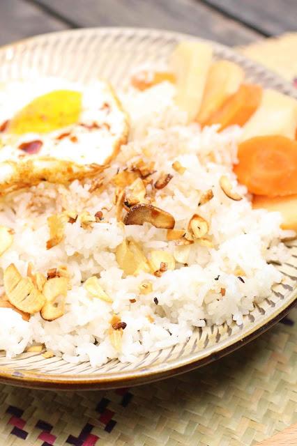 riz saute a l'ail