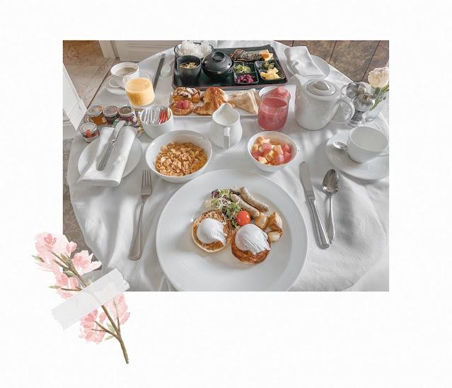 st regis staycation breakfast