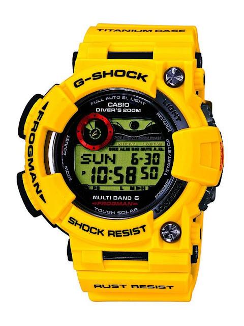 GShock GWF-T1030E-9JR 30th Anniversary Lightning Yellow