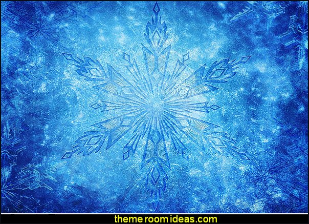 Frozen Themed Party Backdrop Blue Crystal Snowflake Photography Background for Party frozen elsa party decorations