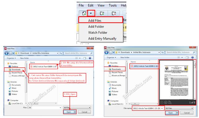 cara memasukkan data referensi berupa file