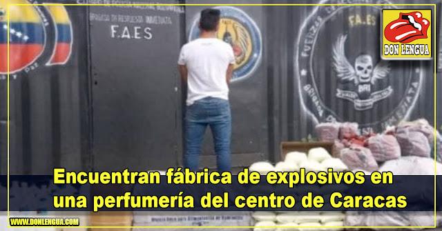 Encuentran fábrica de explosivos en una perfumería del centro de Caracas