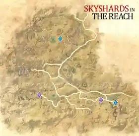 The Reach Skyshards Map,Elder Scrolls Online
