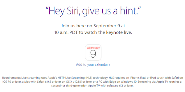 Apple September 9 event