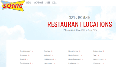 Sonic Drive-In Restaurant Locations