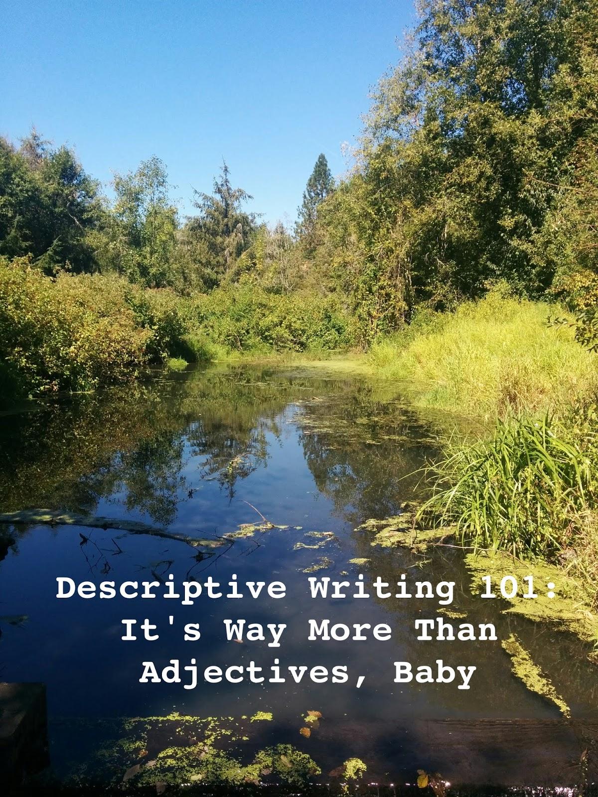 Cindy Baldwin: Descriptive Writing 101: It's Way More Than