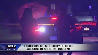 Family member of the officer shot dead explained how it happened.