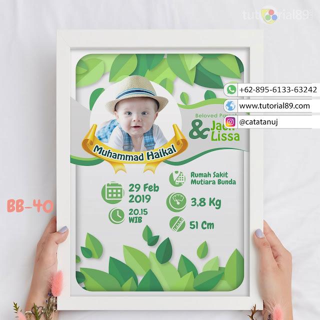 Biodata Bayi Costume Unik Kode BB40 | Daun Hijau