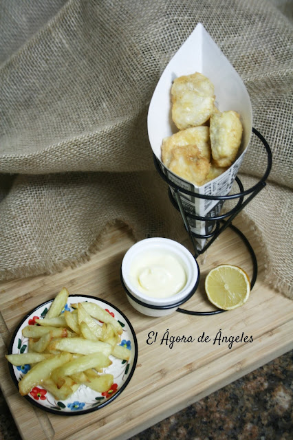 Fritos de pixín (rape)  El Ágora de Ángeles