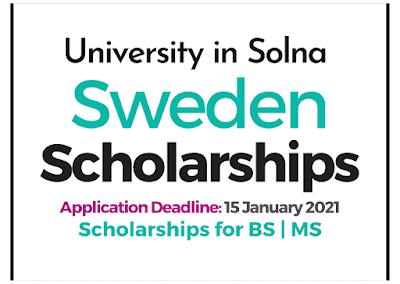 منح الماجستير العالمية السويدية 2021-2022 | جامعة سولنا ممولة بالكامل حتى التخصصات الطبية