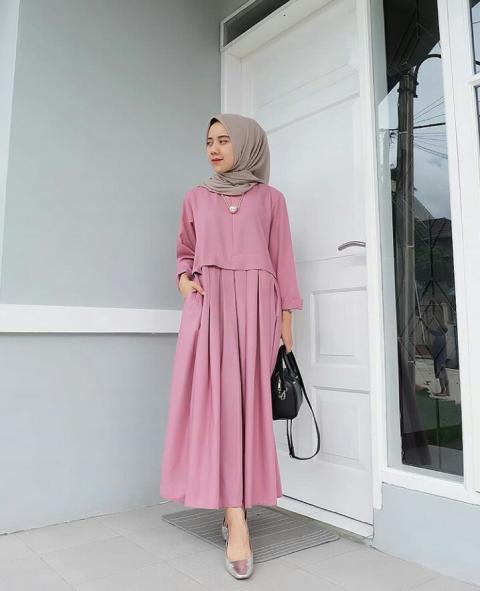 Model Baju Muslim Lebaran Terbaru 2019 Muslimah Trendy Super Viral 7