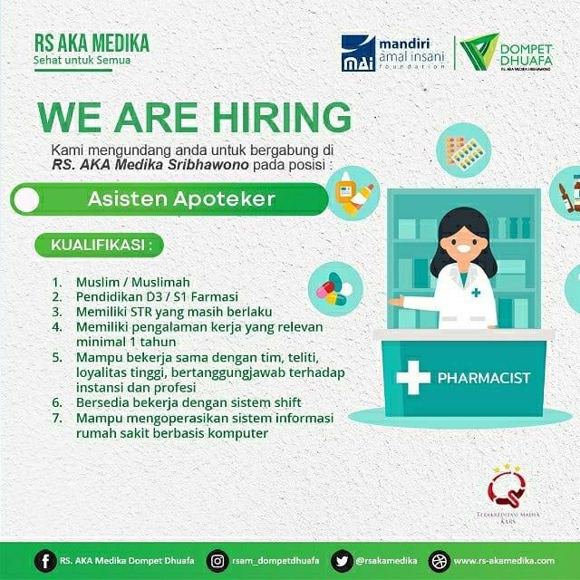 loker asisten apoteker RS AKA Medika Lampung