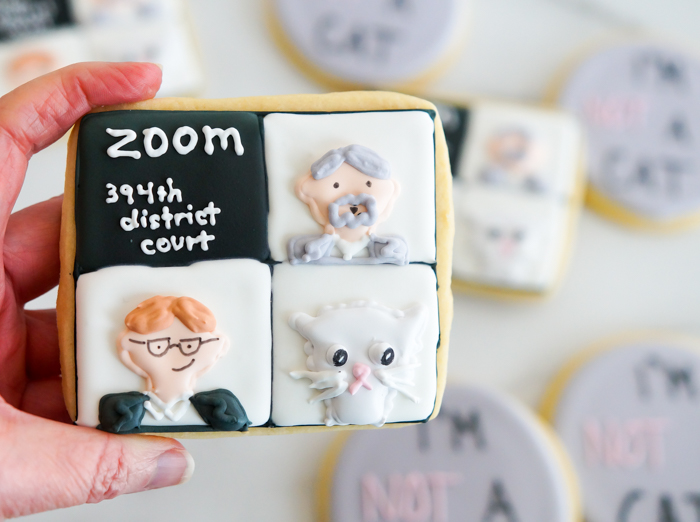 """""""I'm not a cat"""" Zoom Call Cookies"""