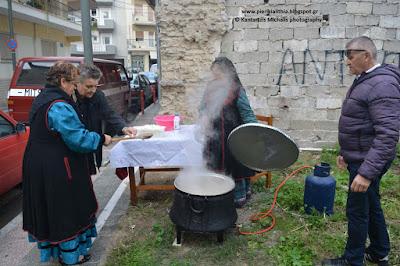 """Γιορτή Παραδοσιακού τραχανά στον Σύλλογο Κοκκινοπλιτών Πιερίας """"Ο ΌΛΥΜΠΟΣ""""."""