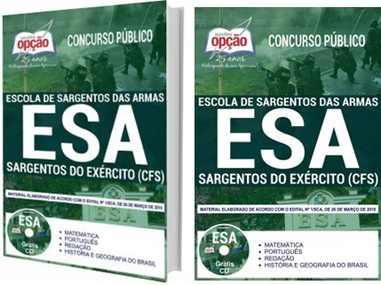 Apostila Concurso ESA 2018