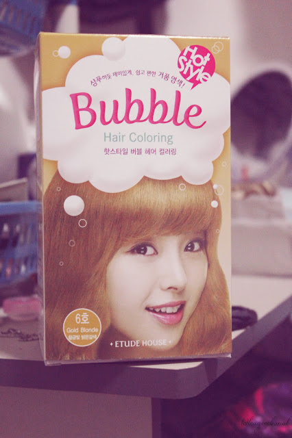 Etude House : Gold Brown Bubble Hair Color Review