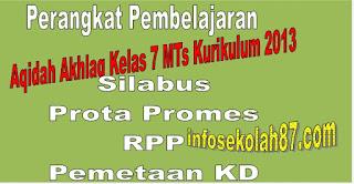Download Perangkat Pembelajaran Aqidah Akhlaq Kelas 7 MTs Kurikulum 2013