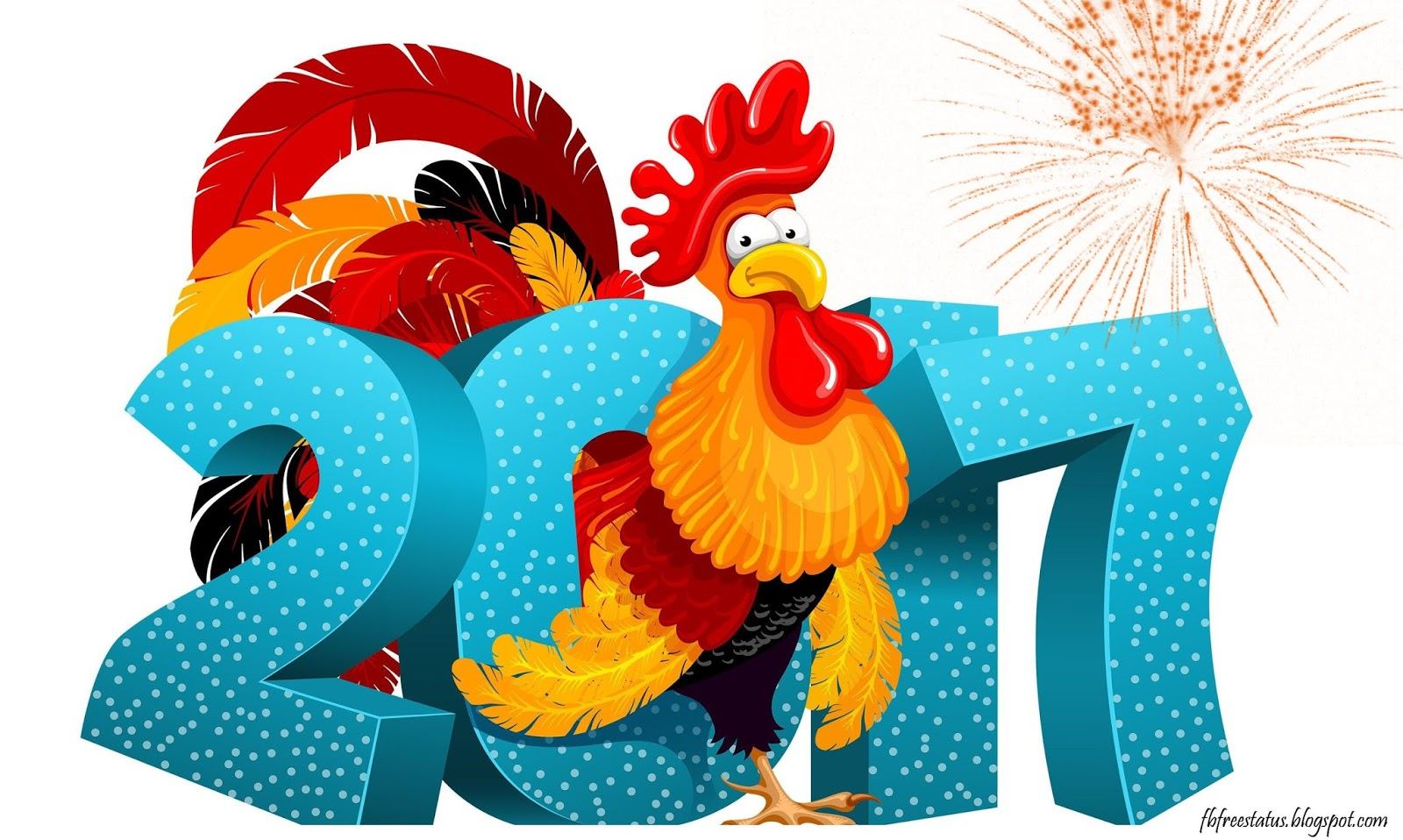 Happy New Year-2017 Rooster year Images