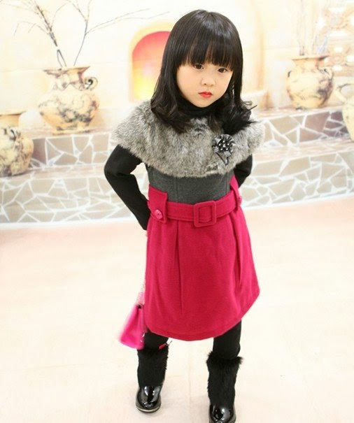 0c8d408627f0 New Fashion Styles  Kids Winter Dress For Girls 2013