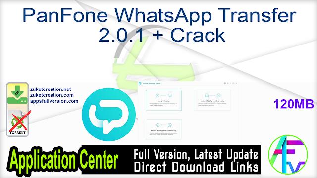 PanFone WhatsApp Transfer 2.0.1 + Crack