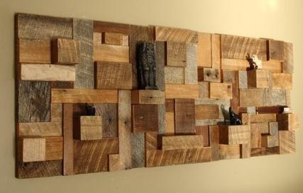 15 desain  hiasan dinding rumah unik dari  kayu bekas