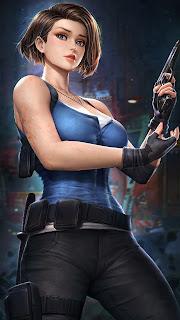 Jill Valentine Resident Girl Mobile HD Wallpaper