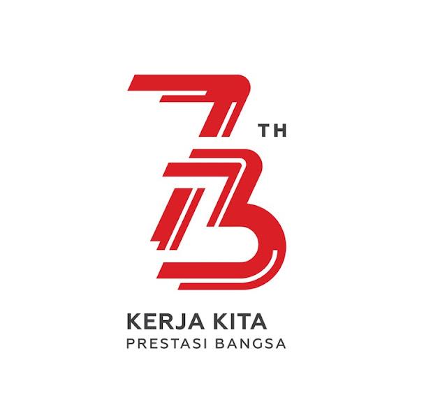 Logo HUT Ke-73 RI, Bertema Kerja dan Energi