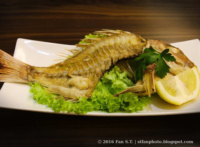 Crispy grilled kodai fish bone from Ichiban Boshi Japanese resturaunt
