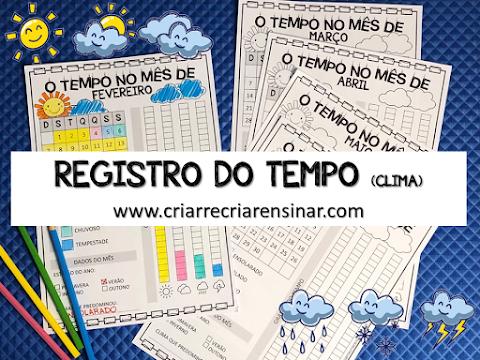 REGISTRO DO TEMPO (CLIMA) DIÁRIO/MENSAL