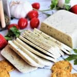 Vegan Cheese With Garlic And Herbs