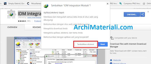 Cara Mudah Pasang Ekstensi IDM di Google Chrome - Archi