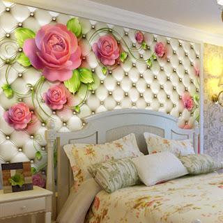 fototapet rosor blommor sovrum 3d fondvägg