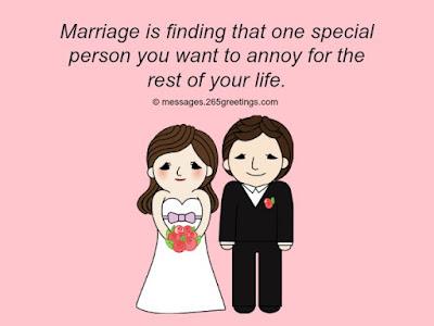 Funny Marriage Congratulations Message.