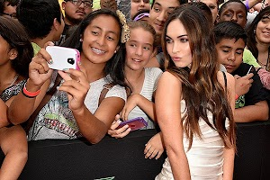 Megan Fox is a scandal at a press conference