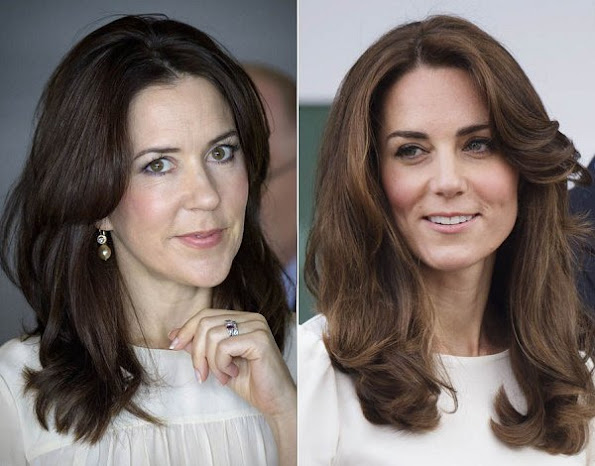 "Chanel director Karl Lagerfeld presciently dubbed the willowy brunettes ""royal sisters"" even before Kate Middleton got married Prince William in 2011. Danish Crown Princess Mary and Kate Middleton"
